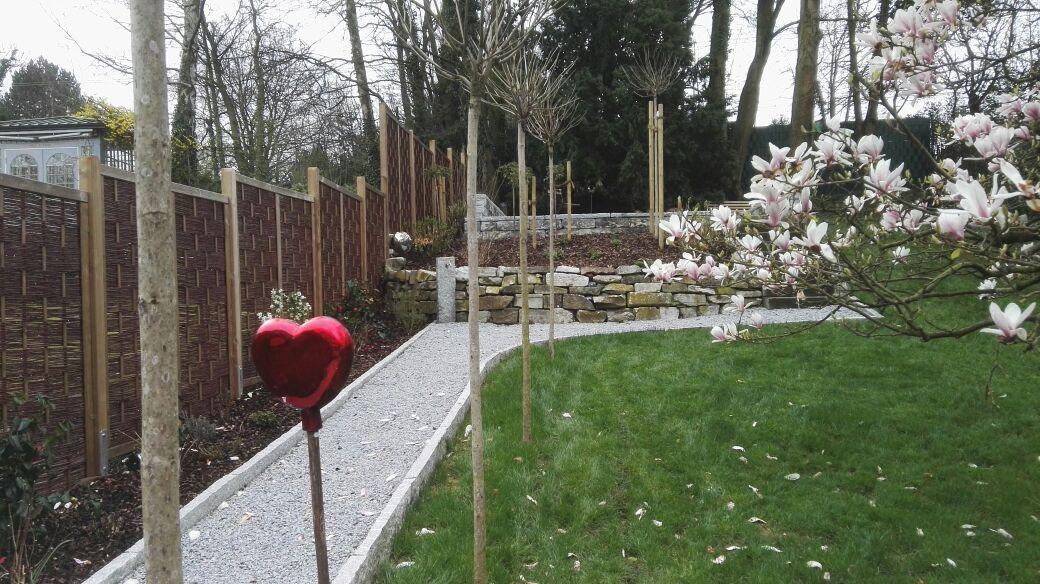 Gartengestaltung; Sichtschutz, Beete, Rasen Und Weg Anlegen Sowie